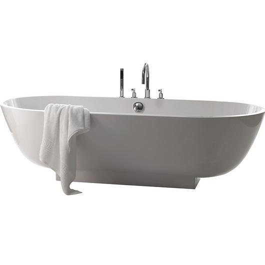 Mineral-Cast Freestanding Oval Bath - Crono