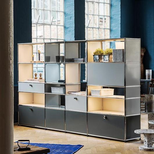 Drawers and Open Shelves - Haller E / USM