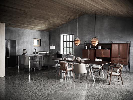 Flexform | Casa Ell | Photo: MATTEO IMBRIANI | Soffio Dining Table