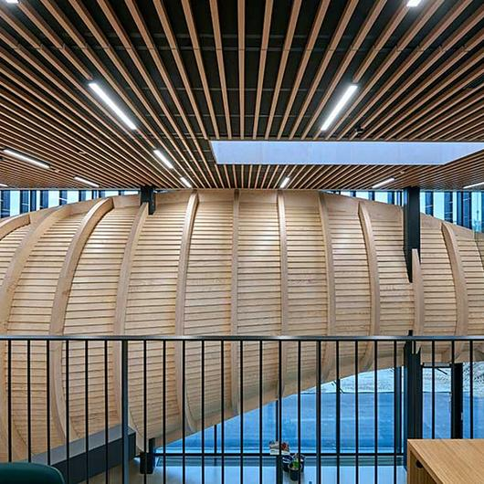 Fire-Safe Timber Ceiling in Klimatorium / Gustafs