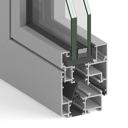 Ventanas terminadas de aluminio