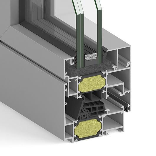 Ventanas terminadas de aluminio / Strugal