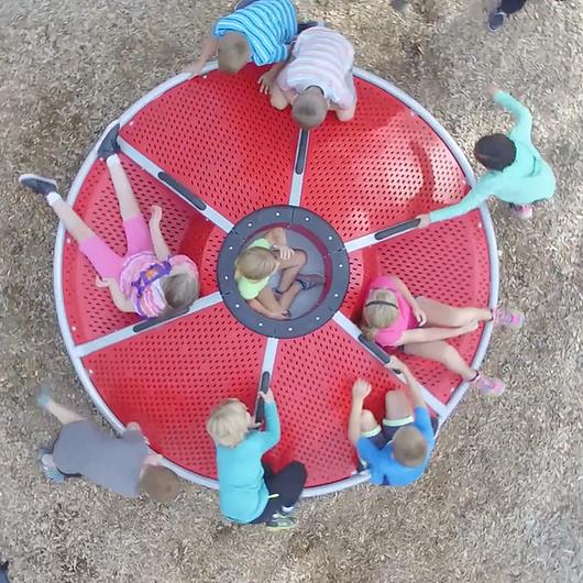 Juego infantil carrusel girador inclusivo Unity®  SpinR