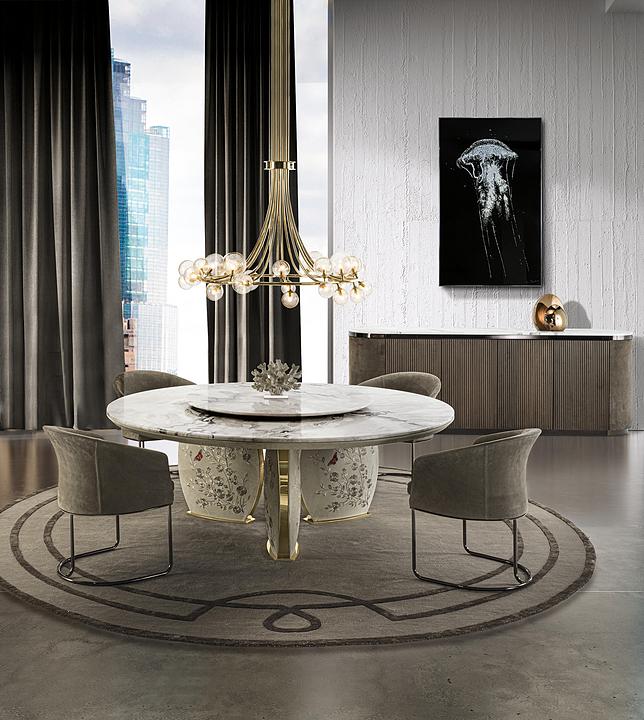 Dining Table - Lotus Circle