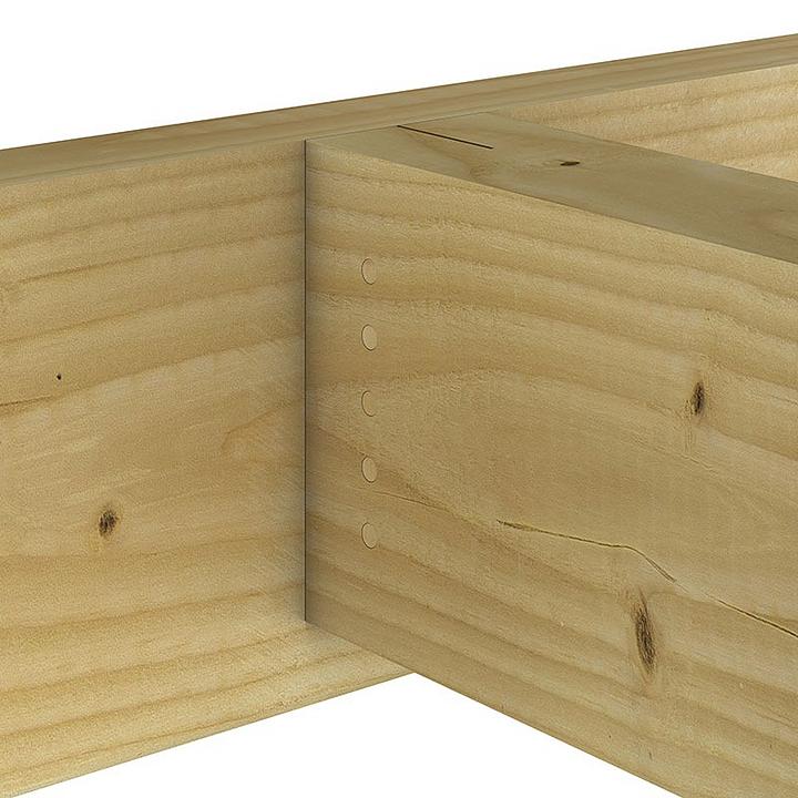 Conectores ocultos para madera aserrada y laminada