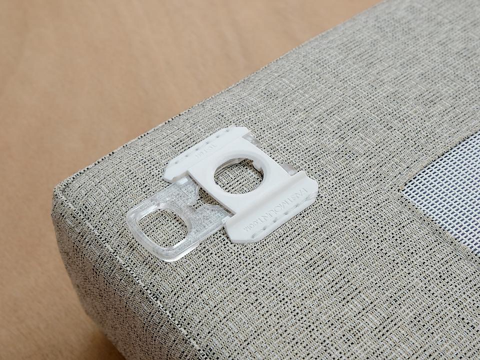 Sistema de fixação oculta em estofados - Linha Textile