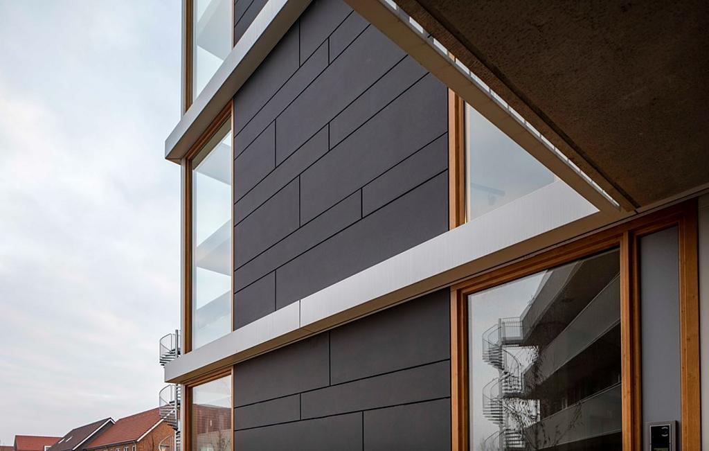 Panel de fibrocemento para fachada -  Tectiva Grafito
