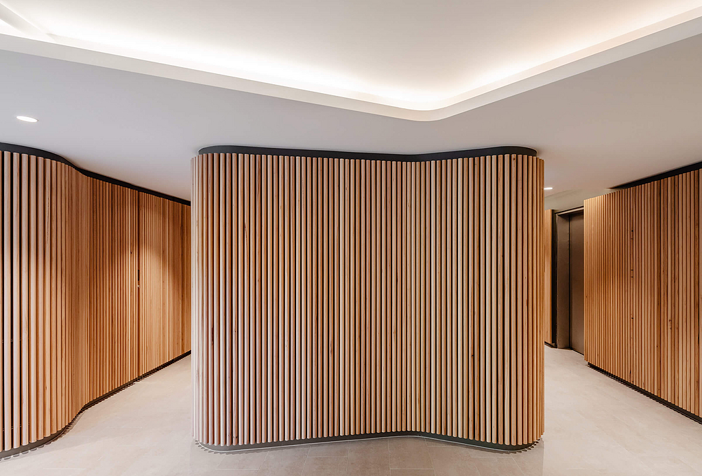 Click-on Battens in Victoria Point Foyer