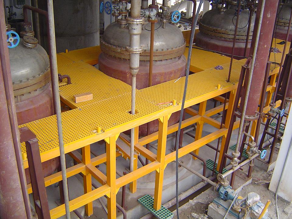 Parrilla FRP para usos industriales