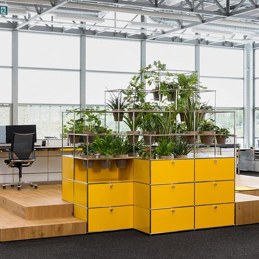 Modular Furniture With Planters - Haller / USM