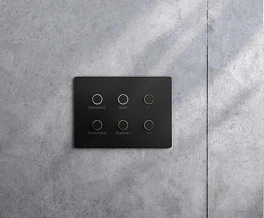 Controle de parede minimalista - Alisse | Lutron Brasil