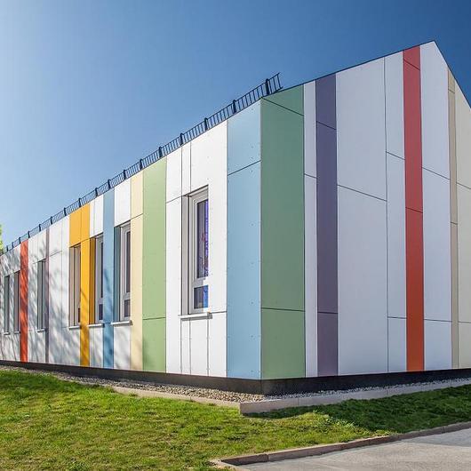 Placa exterior de fibra natural - Meteon® Uni colours