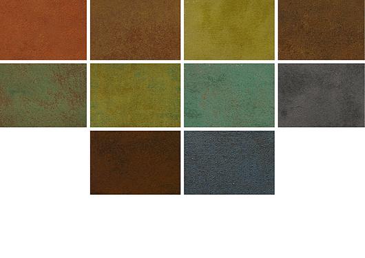 Cores | Revestimento de alta resistência para paredes - Óxidos | Terracor