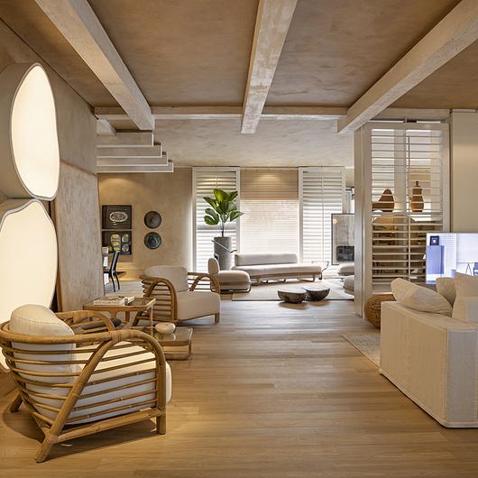 Textura acrílica Terracal no Showroom da Artefacto Beach & Country / Terracor