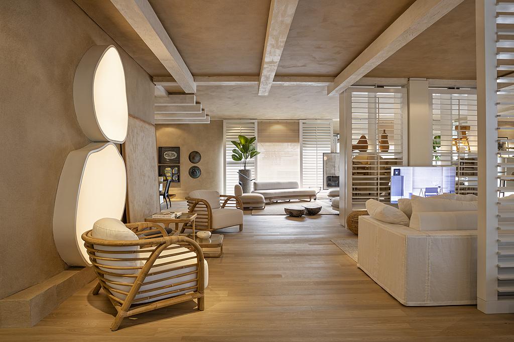 Textura acrílica Terracal no Showroom Beach & Country