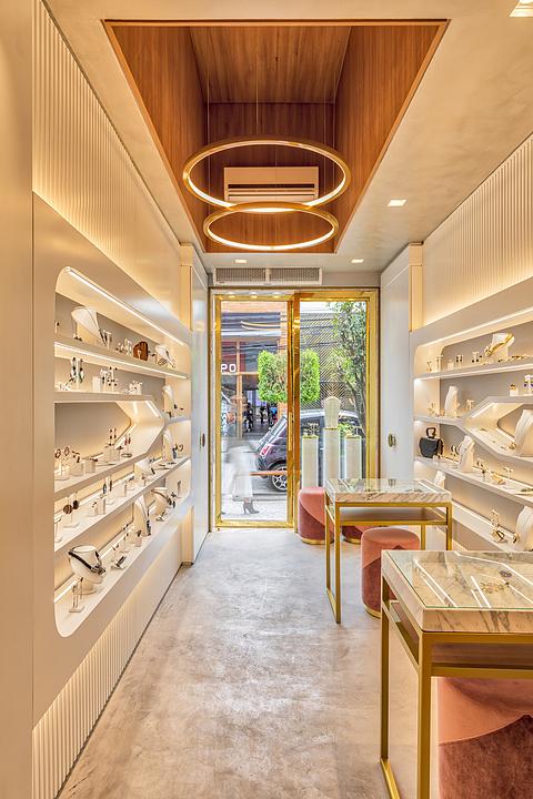 Textura acrílica Cimento Queimado e Eco na  Loja Maria Dolores