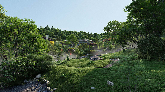 Lumion | Landscape Architecture | Model provided by Beehive & King Crab.