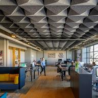 Acoustic Ceilings - HeartFelt® Origami Ceiling System