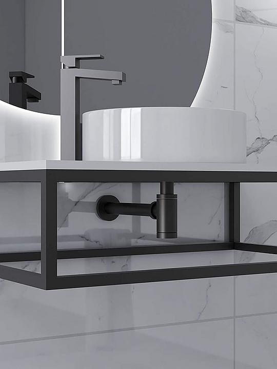 Griferías para baño y cocina serie Nove Black/PAINI