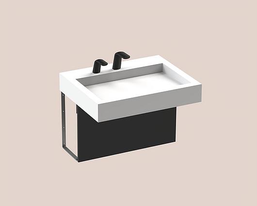 The Splash Lab | Monolith A Series | 1 User 2 Fittings - Black - Square