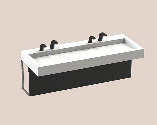 The Splash Lab | Monolith A Series | 2 User 2 Fittings - Black - Square