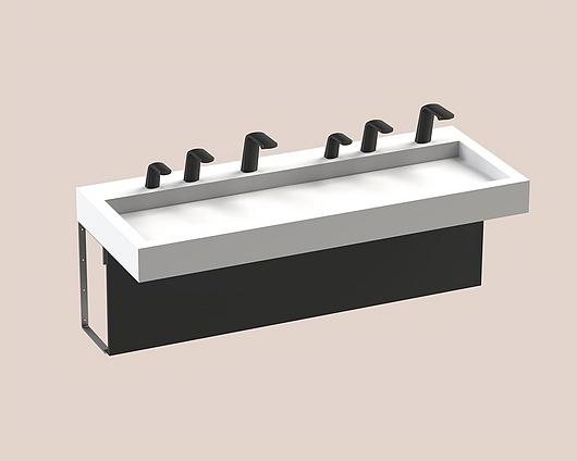 The Splash Lab | Monolith A Series | 2 User 3 Fittings - Black - Square