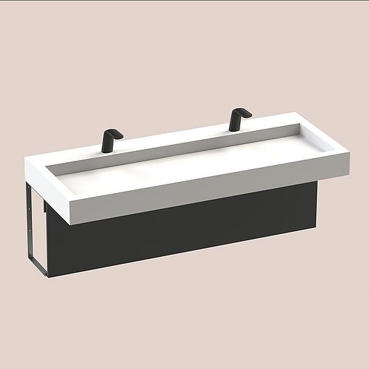 The Splash Lab | Monolith A Series | 2 User 1 Fitting - Black