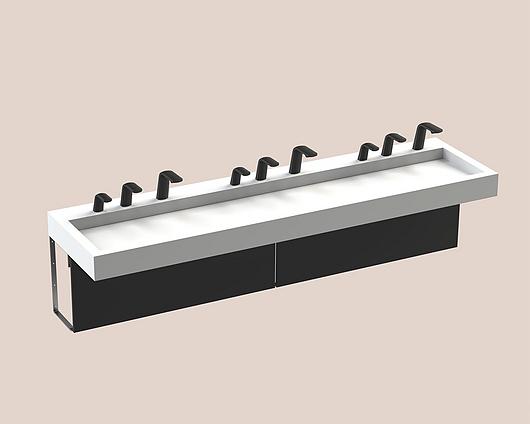 The Splash Lab | Monolith A Series | 3 User 3 Fittings - Black