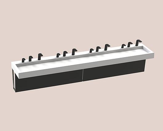 The Splash Lab | Monolith A Series | 4 User 3 Fittings - Black