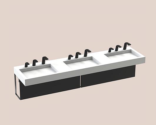 The Splash Lab | Monolith B | 96 3 fittings - Square