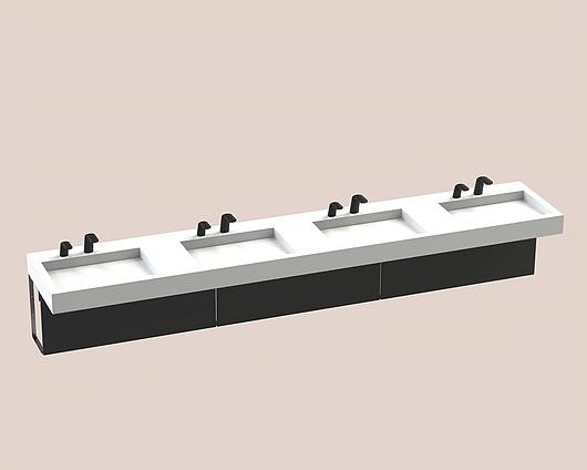 The Splash Lab | Monolith B | 130 2 fittings - Square