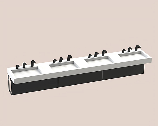 The Splash Lab | Monolith B | 130 3 fittings - square