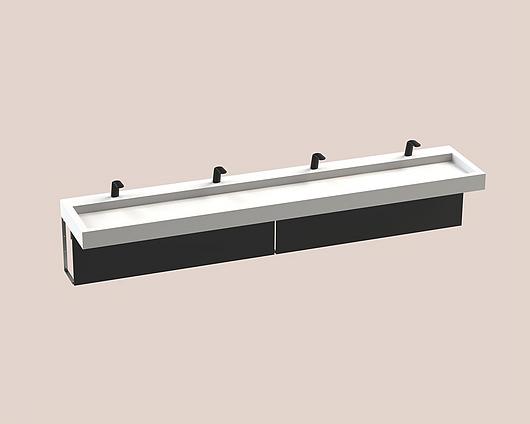 The Splash Lab | Monolith A Series | 4 Users 1 Fitting - Black