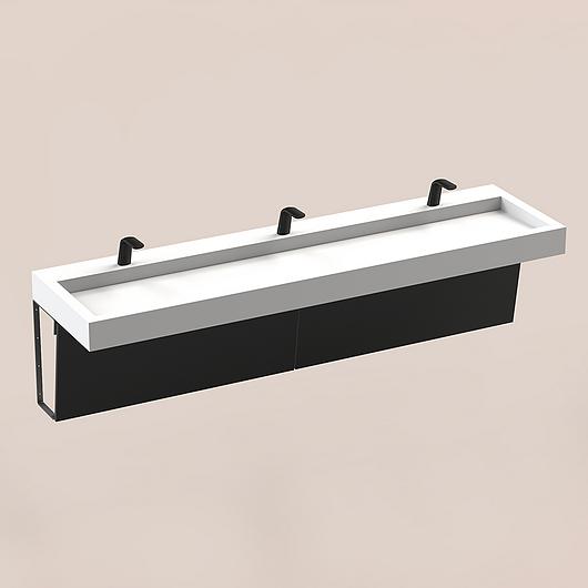 The Splash Lab | Monolith A Series | 3 User 1 Fitting - Black
