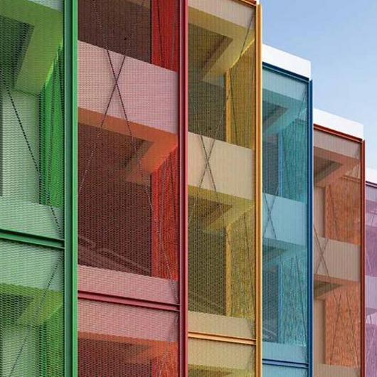 Mallas en aluminio Metalskin – Fachadas e interiores / Mathiesen