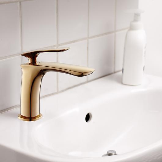Monomando lavatorio color dorado - Malmo