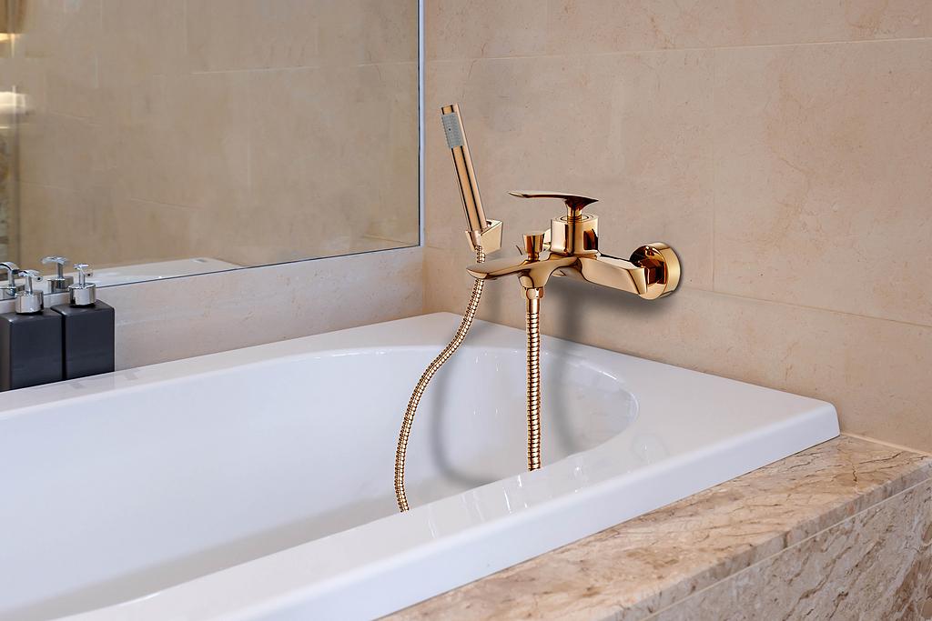 Monomando tina ducha color dorado - Malmo