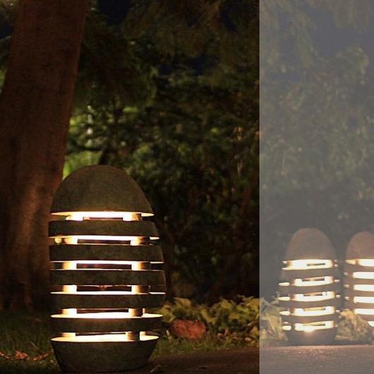 Lámparas de piedra