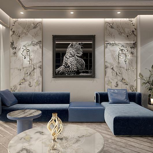 Interior Furnishing in Miami Beach Apartment / Longhi