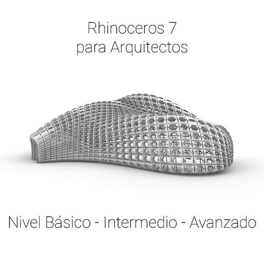 Cursos digitales: Rhinoceros 7 para arquitectos
