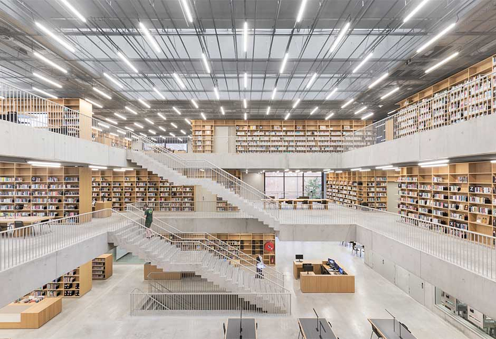 Modular Skylights in Utopia Library