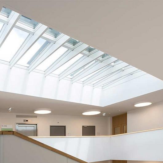 Modular Skylights in Seestadt Aspern Office Building / VELUX Commercial