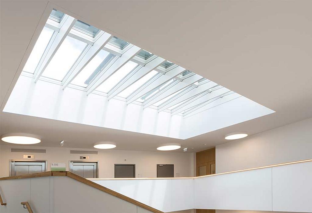Modular Skylights in Seestadt Aspern Office Building