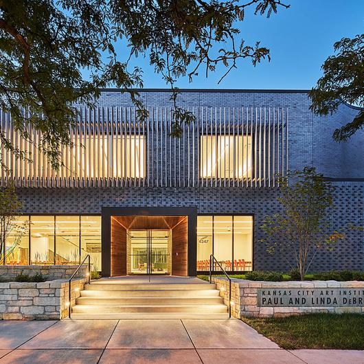 Brick Facade of the Kansas City Art Institute