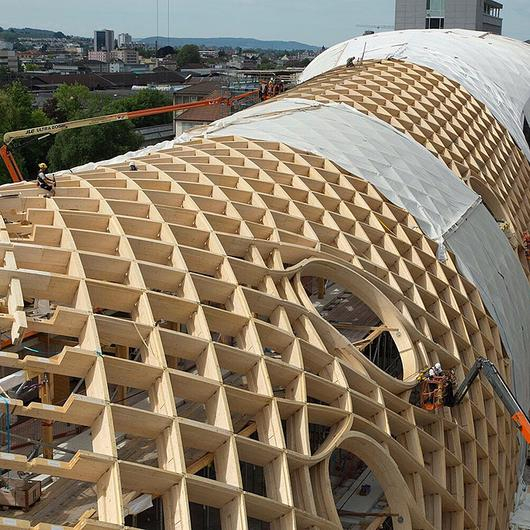 Timber Construction of Swatch Headquarters