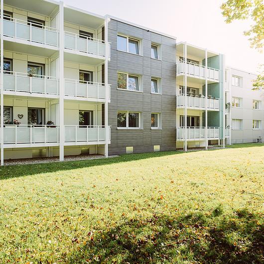 Revestimientos Trespa en rehabilitación de edificio residencial en Münster / Trespa