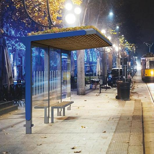Bus Shelter - Aureo Green / mmcité