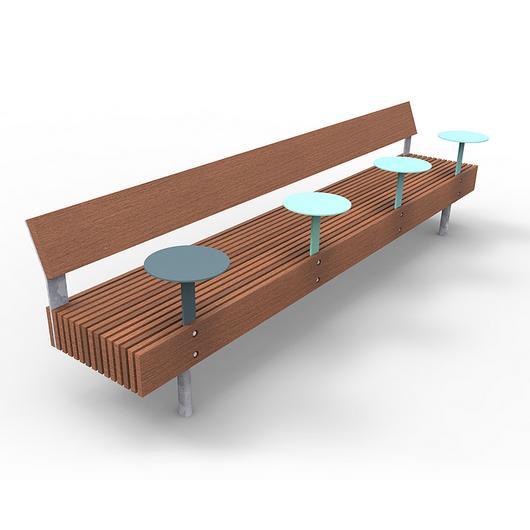 Smart Park Bench - Woody Smart / mmcité