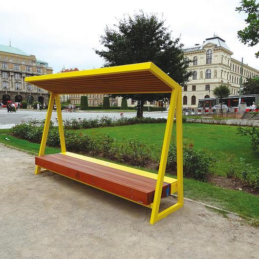 Solar Park Bench - Woody Solar / mmcité