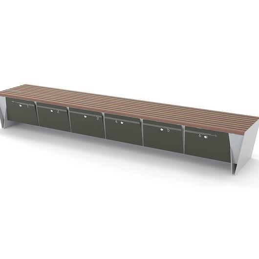 Park Bench with Storage - eBlocq / mmcité